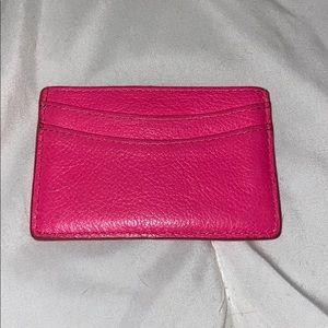 J. Crew neon pink card holder
